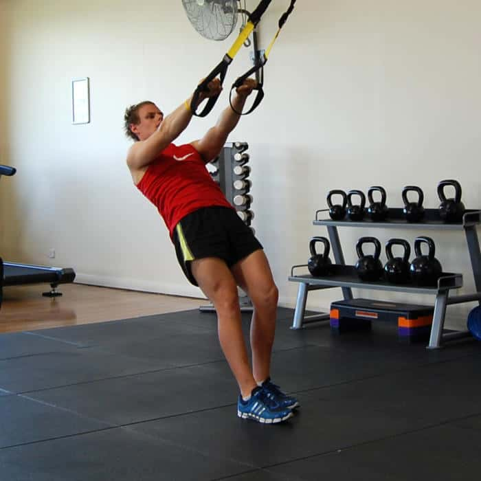 Man performing a TRX Face Pull