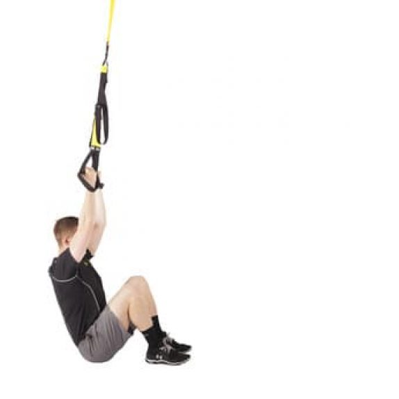 Man performing TRX Pull Up